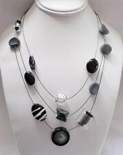 Chico's Thalia Illusion Necklace Modern Artistic Style Elements $39