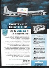 EASTERN AIR LINES 1958 LOCKHEED ELECTRA PROP-JET AT NIGHT WILCOX TRANSPONDER AD