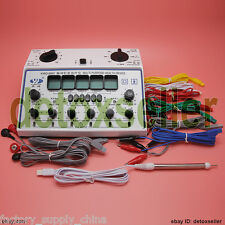 KWD-808 I Acupuncture Machine Electric Massager 6 Output Patches Stimulator Care