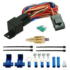 "160'F LOW TEMP DUAL ELECTRIC RADIATOR FAN 3/8"" INCH GROUND THERMOSTAT SWITCH KIT"