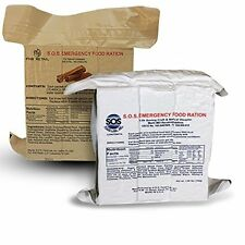 S.O.S. Emergency Food Rations 3600 Calorie Cinnamon + Coconut Flavors (2 Pack)