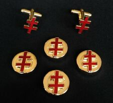 33rd Degree I.G.H. Button Cover & Cuff Link Set  (33-BCL)