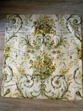 FRENCH VINTAGE ROMANTIC FABRIC SILK COTTON MUSIC AND FLORAL DECOR