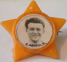 BLACKPOOL FC LEGEND JIMMY ARMFIELD 1954-71 STAR Badge Brooch pin 32mm x 31mm