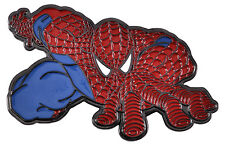 Marvel Spiderman Enameled Loop and Hook Belt Buckle Large Metal Superhero Mens