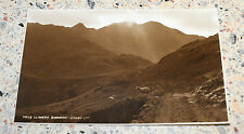 Vintage Postcard of Lliwedd, Snowdon, North Wales - with sheep & Mountains