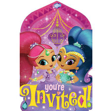SHIMMER AND SHINE INVITATIONS (8) ~ Birthday Party Supplies Stationery Cards