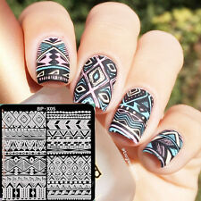 BORN PRETTY Nail Art Stamping Plates Ethnic Image Stamp Template 6*6cm BP-X05