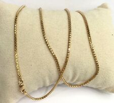 "18k Solid Yellow Gold Italian Popcorn Chain Necklace, Diamond Cut 18"". 4.90Grams"