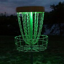 Set of 2 LED Lights for Disc Golf Basket Multi Colored Remote Controlled Wate...