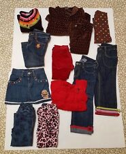 Lot 10 Gymboree Little Girls 3 Jeans 2 Pants Skirt Sweater Jacket Dots Size 2T