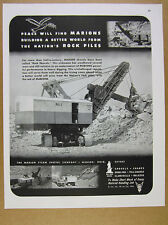1944 Marion Type 4161 Power Rock Shovel photo vintage print Ad