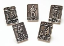 Tarrot Card Gift Set Of 5 Handcrafted English Pewter Lapel PinBadge + Gift box
