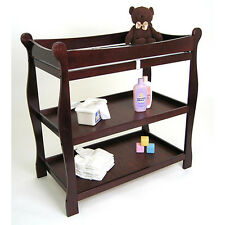 NEW Badger Basket Sleigh-style Cherry Wood Baby Changing Table Nursery Furniture