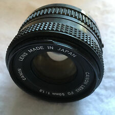 Canon 50mm FD lens f1.8