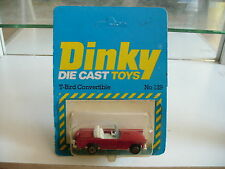 Dinky Toys T-Bird Convertible on in Red on 1:64 on Blister