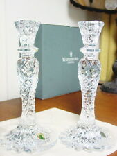 Waterford Crystal SEA JEWEL Candlesticks Candle Holders Set / 2 - NEW!