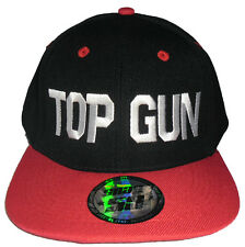 Top Gun Snap Back Hiphop Cap Rapper Hat Flat Visor Ball Cap
