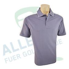 Di alta qualità cotone POLO per uomo blu chiaro/bianco dimensione 44 - 46 (S/M)
