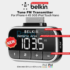 Belkin Tune FM Transmitter For iPhone 4 4S 3GS iPod Touch Nano F8Z179eaSTD NEW