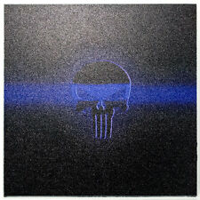 "Infused Kydex Punisher Blue Line Print 7.5"" X 7.5"" Sheet FREE SHIPPING"