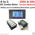 DC Panel Meter Voltage Current Power Energy Combo Monitor for Car Battery Solar