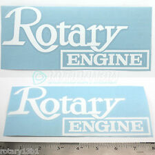 WHITE ROTARY ENGINE DECAL- WANKEL RX7 RX2 RX8 RX7 REPU R100 RE 12A 13B