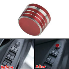 Red ABS Car Door Rearview Mirrors Switch Ring Cover Trim For Mazda M3 Axela CX-3