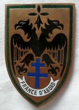 Insigne 19° RD 1944 FRANCE D'ABORD Régiment de Dragons ORIGINAL Boucheron Paris