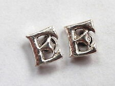 "The Letter ""E"" Stud Earrings 925 Sterling Silver Corona Sun Jewelry e"