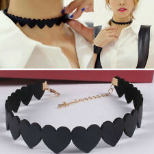 Vintage Love Heart Choker Simple Collar Necklace Fashion Jewelry Accessories New