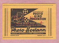 NÜRNBERG, Werbung 1949, Photo Hodann Kino Projektion Fotografie
