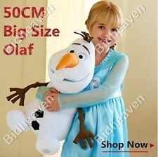 "18"" Big Cute Frozen Olaf Snowman Snow Man Soft Plush Stuffed Teddy Doll Toy"