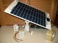 10 WATT Marine SOLAR Battery CHARGER - ADJUSTABLE Stainless PANEL w/ CONTROLLER