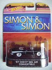 HOT WHEELS RETRO SIMON & SIMON '57 CHEVY BEL/AIR CONERTIBLE