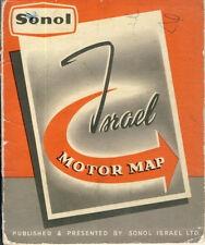 Sonol Israele Ltd.: Israele MOTORE Map 1958/Jewish auto CARD