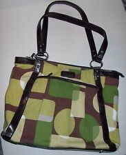 KailoChic Collection large pleated front tote, computer, organizer, travel  EUC