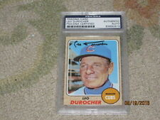 Leo Durocher AUTOGRAPHED Trading Card PSA Certified