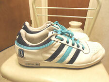 MENS SZ 12M ADIDAS ORIGINALS PADDED TONGUE 3 STRIPE SHOES LEATHER 08/10