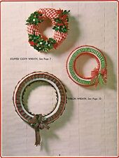 Cloth & Ribbon Wreaths - Craft Books: Make Yours a Crafty Christmas II