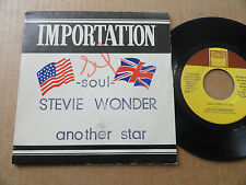 "DISQUE 45T DE STEVIE WONDER  "" ANOTHER STAR """
