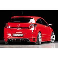 Opel Astra H Heckansatz für 4-Rohr Auspuff Carbon Look GTC und TwinTop Rieger Tu