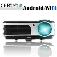 1080p HD Home Theater LED Projector Android WiFi Support System Movie HDMI USB