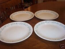 4 Corelle COUNTRY COTTAGE Blue Heart Dinner Plates-Set of Four (loc-bas)