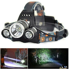 11000Lm CREE XM-L T6+2R5 LED Recharge Headlamp Headlight Torch 18650 USB Charger