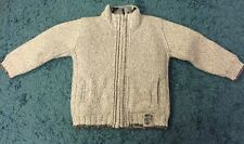 Next Signature Chunky Wool Lined Cardigan Jacket Grey Age 5 Good Condition