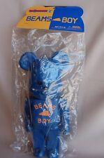 2002 Medicom x BEAMS BOY  BE@RBRICK BEAMS BOY Blue 400% Bearbrick Rear NOS Japan