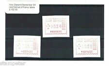 New Zealand September 84 rare first set of frama labels