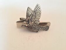 B34 Woodpigeon  English Pewter emblem on a Tie Clip 4cm long