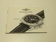RARE VINTAGE BOOKLET FOR BREITLING INTRUDER WATCH